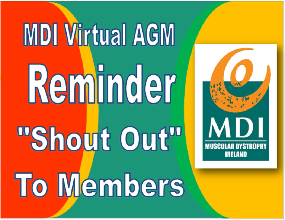 Virtual AGM – Reminder – Shout Out to Members