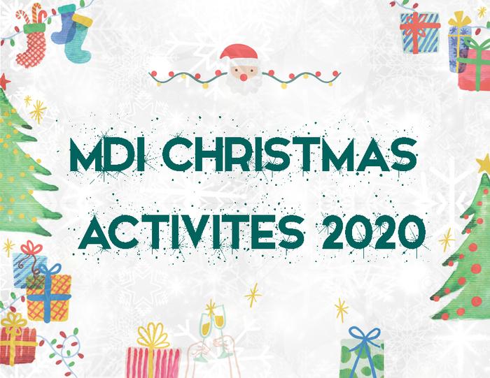 MDI Christmas Activities 2020